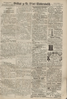 Kladderadatsch, 20. Jahrgang, 28. April 1867, Nr. 19 (Beiblatt)
