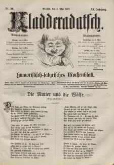 Kladderadatsch, 20. Jahrgang, 5. Mai 1867, Nr. 20