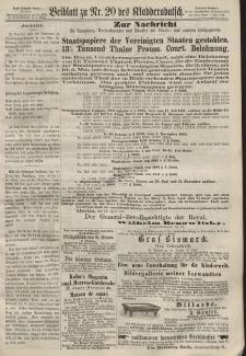 Kladderadatsch, 20. Jahrgang, 5. Mai 1867, Nr. 20 (Beiblatt)