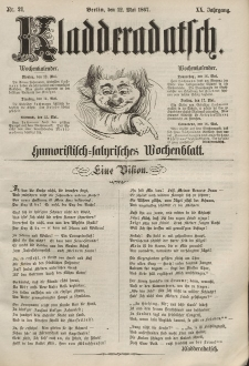 Kladderadatsch, 20. Jahrgang, 12. Mai 1867, Nr. 21