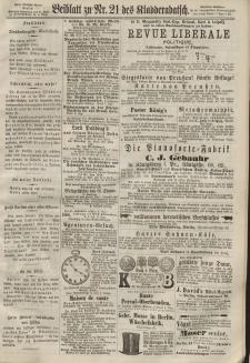 Kladderadatsch, 20. Jahrgang, 12. Mai 1867, Nr. 21 (Beiblatt)