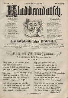 Kladderadatsch, 20. Jahrgang, 26. Mai 1867, Nr. 23/24
