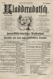 Kladderadatsch, 20. Jahrgang, 2. Juni 1867, Nr. 25