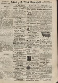 Kladderadatsch, 20. Jahrgang, 2. Juni 1867, Nr. 25 (Beiblatt)