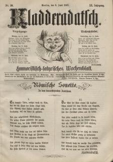 Kladderadatsch, 20. Jahrgang, 9. Juni 1867, Nr. 26