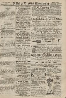 Kladderadatsch, 20. Jahrgang, 9. Juni 1867, Nr. 26 (Beiblatt)