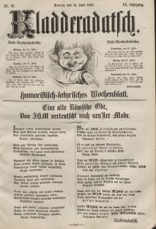 Kladderadatsch, 20. Jahrgang, 16. Juni 1867, Nr. 27