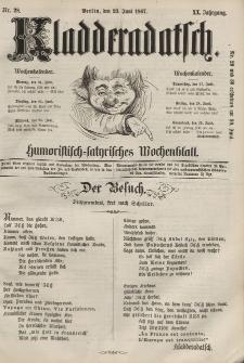 Kladderadatsch, 20. Jahrgang, 23. Juni 1867, Nr. 28