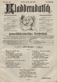 Kladderadatsch, 20. Jahrgang, 30. Juni 1867, Nr. 29/30