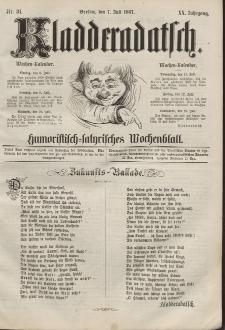 Kladderadatsch, 20. Jahrgang, 7. Juli 1867, Nr. 31