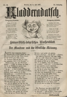 Kladderadatsch, 20. Jahrgang, 14. Juli 1867, Nr. 32