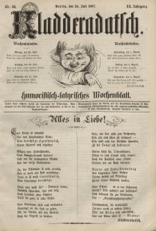 Kladderadatsch, 20. Jahrgang, 28. Juli 1867, Nr. 34