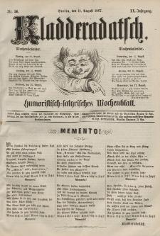 Kladderadatsch, 20. Jahrgang, 11. August 1867, Nr. 36