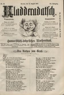 Kladderadatsch, 20. Jahrgang, 18. August 1867, Nr. 37