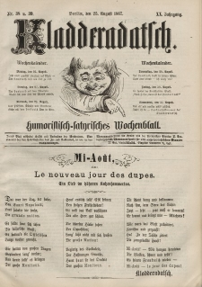 Kladderadatsch, 20. Jahrgang, 25. August 1867, Nr. 38/39