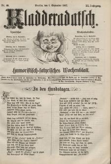 Kladderadatsch, 20. Jahrgang, 1. September 1867, Nr. 40