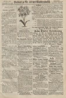 Kladderadatsch, 20. Jahrgang, 1. September 1867, Nr. 40 (Beiblatt)