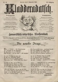 Kladderadatsch, 20. Jahrgang, 8. September 1867, Nr. 41