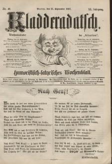 Kladderadatsch, 20. Jahrgang, 15. September 1867, Nr. 42