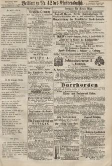 Kladderadatsch, 20. Jahrgang, 15. September 1867, Nr. 42 (Beiblatt)