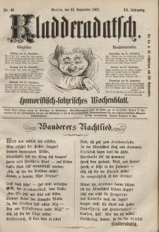 Kladderadatsch, 20. Jahrgang, 22. September 1867, Nr. 43