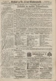 Kladderadatsch, 20. Jahrgang, 22. September 1867, Nr. 43 (Beiblatt)