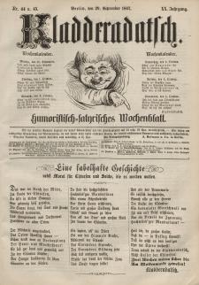 Kladderadatsch, 20. Jahrgang, 29. September 1867, Nr. 44/45