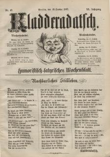 Kladderadatsch, 20. Jahrgang, 13. Oktober 1867, Nr. 47