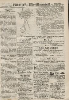 Kladderadatsch, 20. Jahrgang, 20. Oktober 1867, Nr. 48 (Beiblatt)