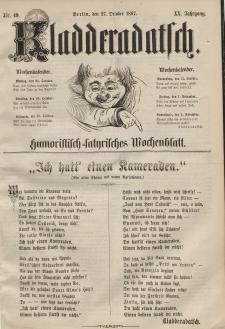 Kladderadatsch, 20. Jahrgang, 27. Oktober 1867, Nr. 49