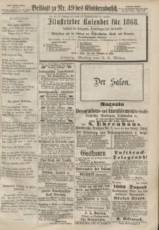 Kladderadatsch, 20. Jahrgang, 27. Oktober 1867, Nr. 49 (Beiblatt)