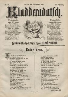 Kladderadatsch, 20. Jahrgang, 3. November 1867, Nr. 50