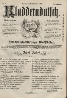 Kladderadatsch, 20. Jahrgang, 17. November 1867, Nr. 52