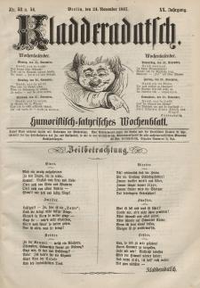 Kladderadatsch, 20. Jahrgang, 24. November 1867, Nr. 53/54