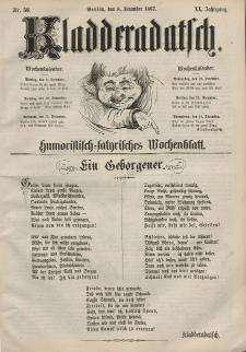 Kladderadatsch, 20. Jahrgang, 8. Dezember 1867, Nr. 56