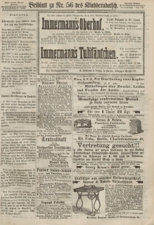 Kladderadatsch, 20. Jahrgang, 8. Dezember 1867, Nr. 56 (Beiblatt)