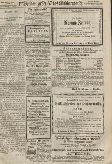 Kladderadatsch, 20. Jahrgang, 15. Dezember 1867, Nr. 57 (Beiblatt)
