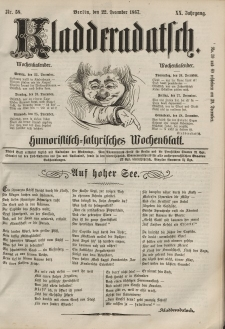 Kladderadatsch, 20. Jahrgang, 22. Dezember 1867, Nr. 58