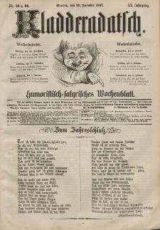 Kladderadatsch, 20. Jahrgang, 29. Dezember 1867, Nr. 59/60