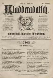 Kladderadatsch, 21. Jahrgang, 5. Januar 1868, Nr. 1