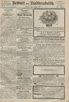 Kladderadatsch, 21. Jahrgang, 5. Januar 1868, Nr. 1 (Beiblatt)