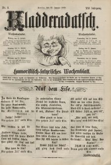Kladderadatsch, 21. Jahrgang, 12. Januar 1868, Nr. 2