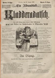 Kladderadatsch, 21. Jahrgang, 16. Januar 1868, (Ein Albumblatt)