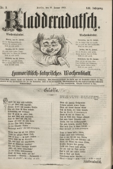 Kladderadatsch, 21. Jahrgang, 19. Januar 1868, Nr. 3