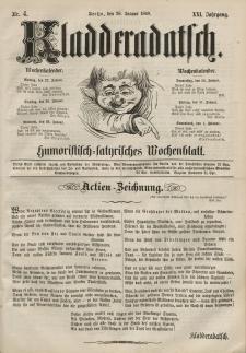 Kladderadatsch, 21. Jahrgang, 26. Januar 1868, Nr. 4