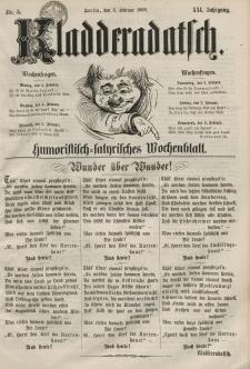 Kladderadatsch, 21. Jahrgang, 2. Februar 1868, Nr. 5