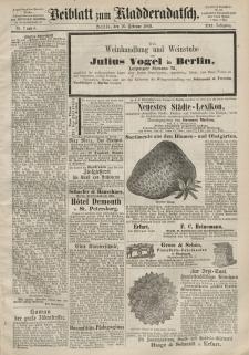 Kladderadatsch, 21. Jahrgang, 16. Februar 1868, Nr. 7/8 (Beiblatt)