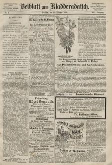 Kladderadatsch, 21. Jahrgang, 23. Februar 1868, Nr. 9 (Beiblatt)