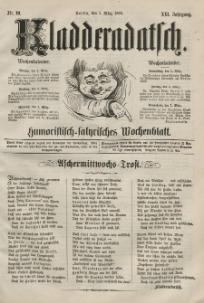 Kladderadatsch, 21. Jahrgang, 1. März 1868, Nr. 10