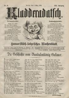 Kladderadatsch, 21. Jahrgang, 8. März 1868, Nr. 11